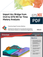 Import of Arc Bridge from Civil to GTS NX  for time history analysis