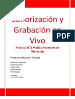 Practico N° 3 Sonorización y Grabación en Vivo Modos Normales de Vibración