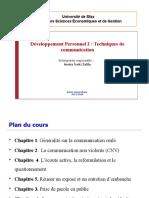Chapitre 1 Cours Techniques de communication Turki A