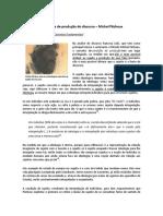 Condições de produção do discurso - Michel Pecheux