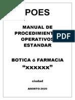 POES-2- BOTICAS Y FARMACIAS