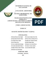 AGROECOLOGÍA Y SEGURIDAD ALIMENTARIA EN LA PROVINCIA DE AREQUIPA