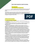 DERECHO AL TRABAJO COMO GARANTIA CONSTITUCIONAL