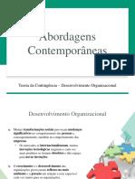 Abordagens Contemporâneas - Teoria da Contingência - Desenvolvimento Organizacional.pdf