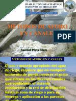 METODOS DE AFORO EN CANALES 2017-2-1