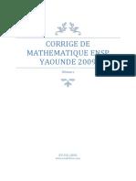 corrige math ensp 2009 (1)