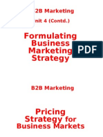 B2B Pricing Strategy for Business Markets