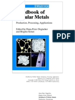 Handbook of Cellular Metals