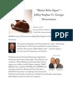 Master Robo Signer, Jeffrey Stephan vs. Georgia Homeowners