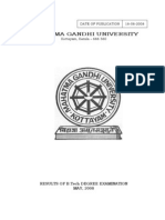 MG University Btech Final Sem 2008 Results