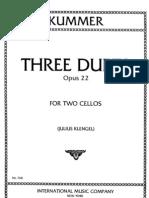 Kummer, FA - 3 Cello Duos, Op22
