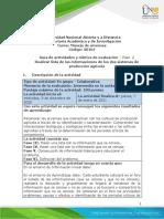 Unidad 2 - Paso 2 - Realizar lista de las informaciones los dos sistemas de producción agrícola.