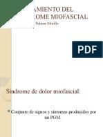 TRATAMIENTO DEL SINDROME MIOFASCIAL
