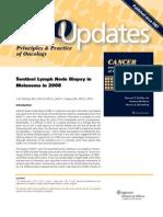 Sentinel Node Biopsy in Melanoma