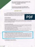 1996 Minutes on Doe Run Park Redevelopment in Shady Hollow (Austin, TX)