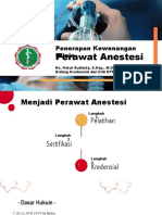 Penerapan Kewenangan Klinis Perawat Anestesi by Ketut Sudiarta