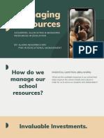 Managing Resources PhD 501