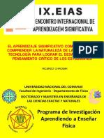 CONF INVITADA SOBRE APR SIGNIF  NdCyT Y PENSAMIENTO CRÍTICO ESC DE MAESTROS