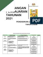 RPT PENDIDIKAN JASMANI THN 6 2021 by Rozayus Academy