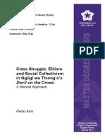 Class Struggle, Elitism in Devil on the Cross