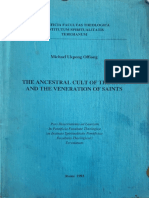 The Ancestral Cult of the Efik and the Veneration of the Saints - Michael Ukpong Offiong (1993)