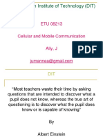Cellular and Mobile Communication-lecture 7