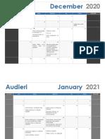 Calendar Audieri Inițial