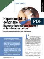 Hypersensibilité dentinaire