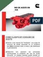 CONSUMO DE ACEITE EN MOTORES ISX