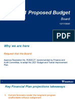Sound Transit - Presentation - Proposed Board Budget Recommendation - December 2020