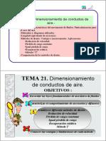 Dimensionado de Conductos