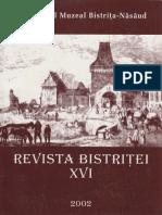 16 Revista Bistritei XVI 2002