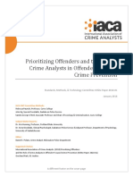 2018- Priotizing Offenders and the Role of CIA  Offender Focused Crime