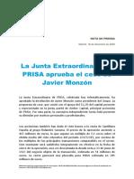 La junta de accionistas de Prisa aprueba la destitución de Javier Monzón como presidente