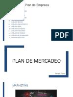 A. Plan de mercadeo