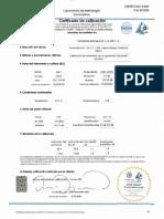 Certificado de calibracion sonometro - sep