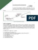 Soil loss equation & estimation