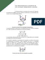 Características eletromecânicas e mecânicas de motores DC com excitação independente e paralela