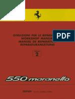 FERRARI Workshop Manual 550 Maranello 2