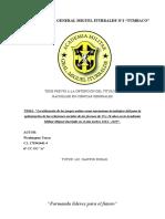 La utilización de los juegos online como mecanismo tecnológico útil para la optimización de las relaciones sociales de los jóvenes de 15 y 16 años en la Academia Militar Miguel Iturralde en el año lectivo 2014