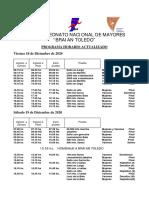 Programa Horario Campeonato Nacional 2020 ACTUALIZADO 1