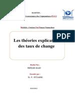 théorie explicative de cours de change
