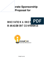 Corporate Sponsorship proposal for IKM