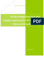 An investigation into the origins and nature of research into Social Networking