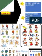 VIII UNIDAD SESION 1 3ero PRIM (ADJECTIVES)