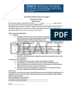 Prposed High School Athletic Plan Assurance Page