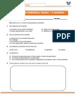 EXAMEN DE PERSONAL SOCIAL 5TA UNIDAD