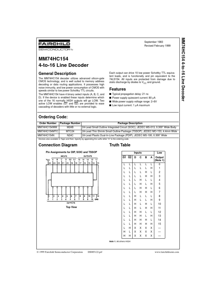 74hc154 Electronic Design Electrical Engineering Ttl Equivalent
