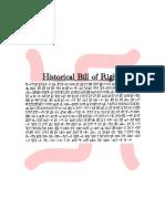 Historical Bills of Rights
