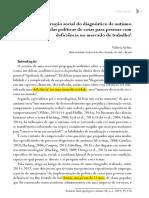AYDOS, Valéria. A (des)construção social do diagnóstico de autismo